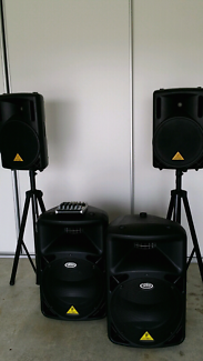 PA Speaker system and stands for hire