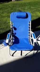 Reclining backpack chair