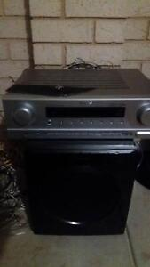 Samsung 8 speaker home theatre system with sherwood amp Baldivis Rockingham Area Preview