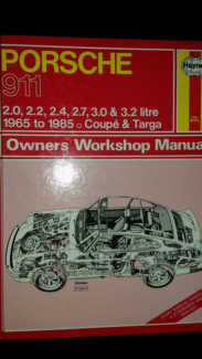 Haynes Workshop Manual - Porsche 911 (1965 - 1985) Swansea Lake Macquarie Area Preview
