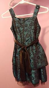 Blue/black floral dress size 7 Cambridge Kitchener Area image 2