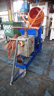 """979 - Concrete Grout Pump 3"""" 75mm and Belle Mixer Minimix 150 415"""