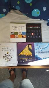 ITM 102, ACC 100, QMS 102, QMS 202, ACC 406 Textbooks