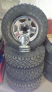 LT285/70R17 Goodyear Duratracs Ford Rims