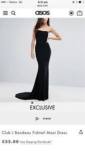 Asos Exclusive Club L Bandeau Fishtail Maxi Dress Crows Nest Toowoomba Surrounds Preview
