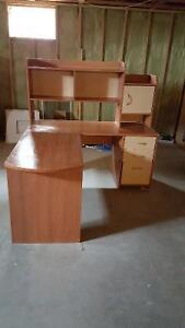 $60 · Computer Desk, L Shaped with Hutch