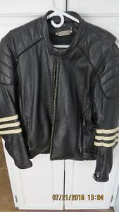 men's leather jacquet