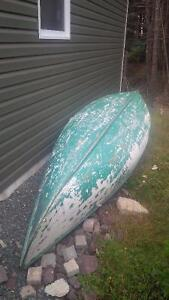 16 Foot Wood and canvas Canoe for sale