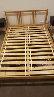IKEA double bed frame. Mattress for free if required
