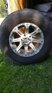 4 LT 265 70 R17 10 Ply Tires with Rims