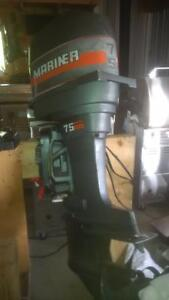 75 Hp Mariner Outboard with Quick Silver controls, key & cables Kingston Kingston Area image 4