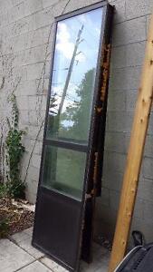 "27.5""x96""Aluminum window frames with glass"