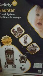 Brand new safety first saunter travel system