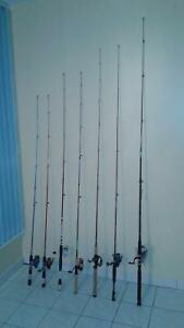 FISHING RODS & REELS, LURES, TACKLE, BOXES