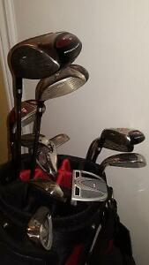 GOLF CLUBS AND BAG,TOP-FLITE