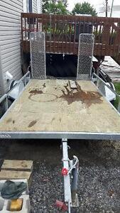 66x120 plate forme galvanisé avec rampe arriere et basculant
