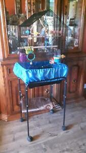 2 budgies Cage Stand Accessories