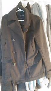 Grey Men's Peacoat - Bluenotes