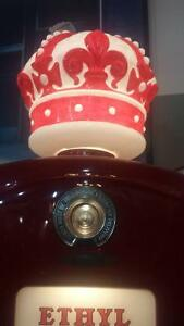RED CROWN GASOLINE pompe a gas BENNETT  (8 pieds!!!)