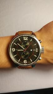 Tommy Hilfiger Men's Casual Brown Leather Watch
