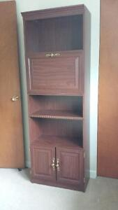 Bookcase with pull down door