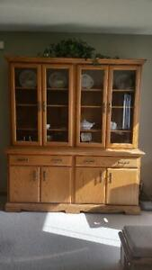 Solid Oak china cabinet for sale