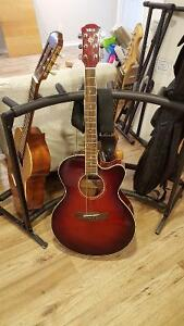 Yamaha Acoustic Electric Guitar CPX500 DRB:Dark Red Burst. Mint