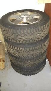 General Altimax Winter Tires with Alloy Rims(195/65/R15) 80% new