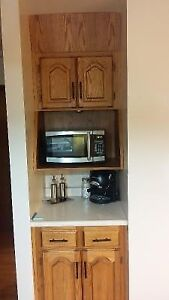 Cabinets - Microwave station and storage cabinets