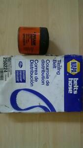 timing belt and oil filter for Honda Civic up to 2002