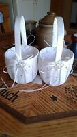 2 flower girl baskets