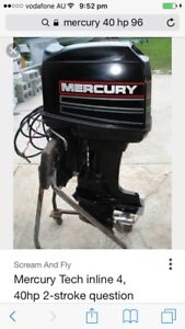 Mercury 40 hp 1998. Electric start , trim and tilt very low hrs Merrimac Gold Coast City Preview