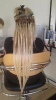 Rallonge de cheveux pose et cheveux compris