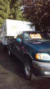 Truck with fifth wheel trailer for sale