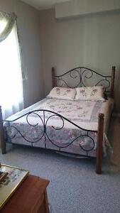 Beautiful wrought iron queensize bed, FREE