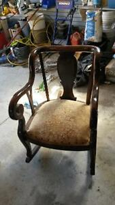 antique rocker, setee and chair