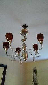 Reduced price: Chandelier & 4 wall sconces