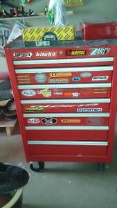 Red Unitool Tool box clean, perfect condition for $350.