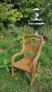 Victorian rattan rocking chair by Gendron MFG