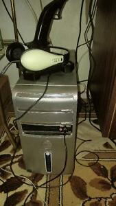 Desktop computer, monitor, and printer, with keyboard mouse and