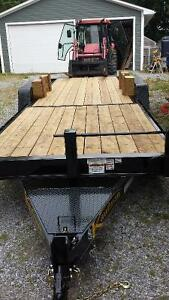 15000 GVWR Deluxe Wood Floor Tilt Equipment Trailer – 22 ft.