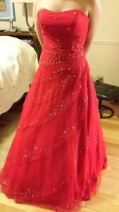 Red prom dress $140