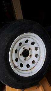 Trailer rims and tires (set of 4)