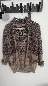 AZTEC CARDIGAN WILFRED, SIZE SMALL