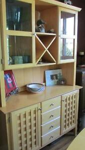 BIRCH DINING TABLE AND HUTCH Kawartha Lakes Peterborough Area image 1