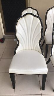 Luxurious White Dining Table Chairs