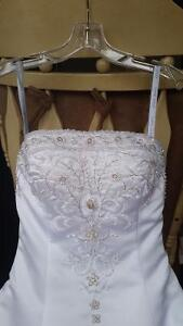 Alfred Angelo wedding dress and veil.