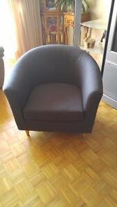 Blue Fabric Tub Chairs