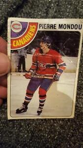carte de hockey 1978 pierre mondou