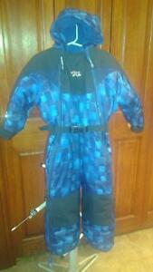 CHLORO PHYLLE boys one piece snowsuit and hat